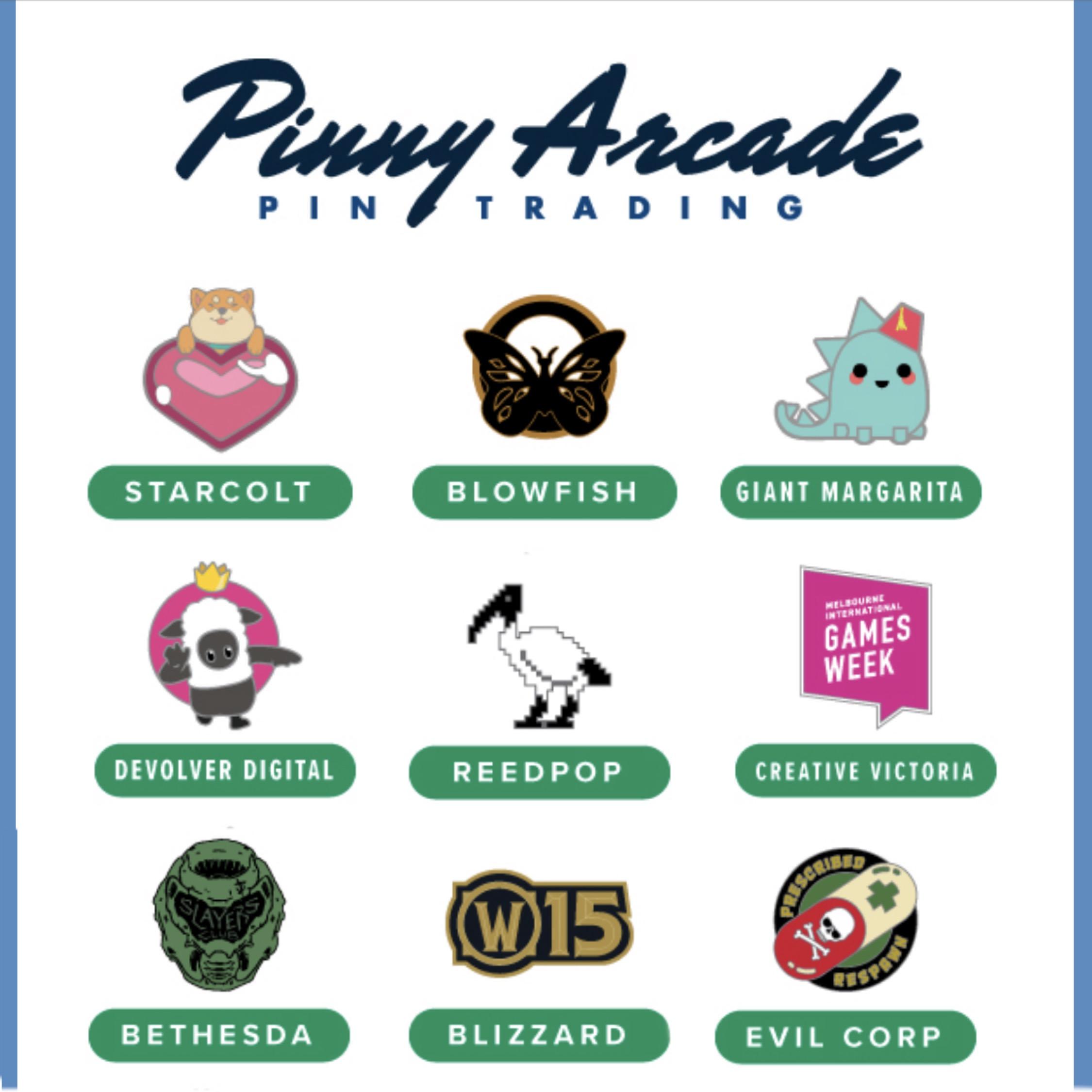 Pinny Arcade Free Pins