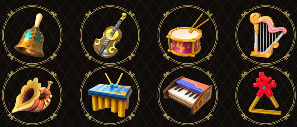 The instruments that you'll be looking for.